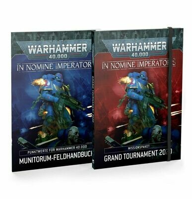 WH40K: GRAND TOURNAMENT 2020 (DEUTSCH) In Nomine Imperatoris: Missionspaket und Munitorum-Feldhandbuch - Games Workshop
