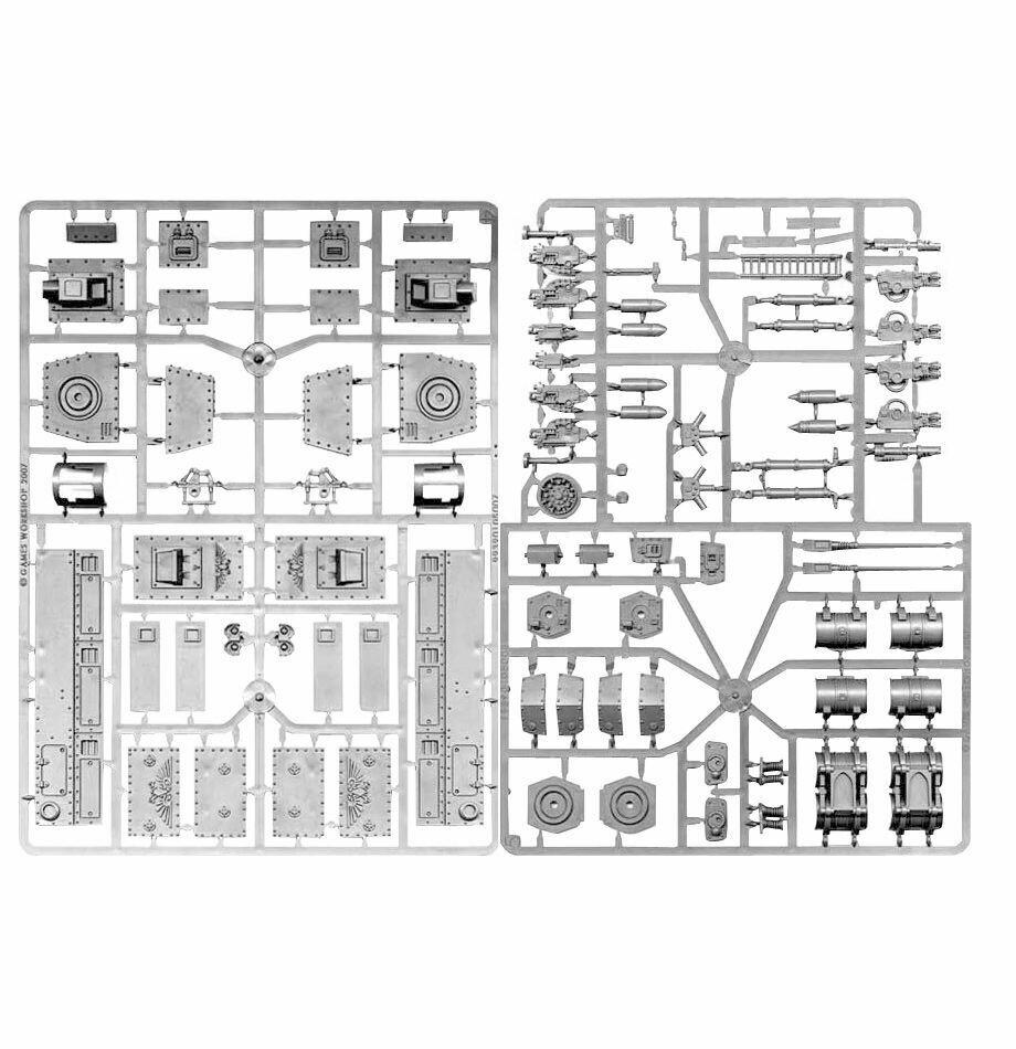 MO: Baneblade-Seitenkuppeln und -Zubehör - Warhammer 40.000 - Games Workshop