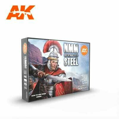 NON METALLIC METAL: STEEL-(3rd-Generation)-(6x17mL) - AK Interactive