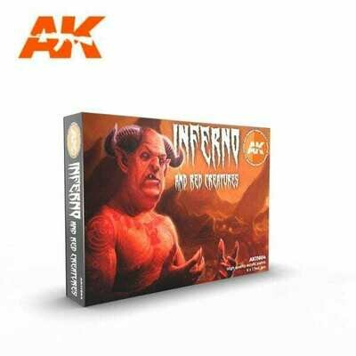 Inferno and Red Models Creatures-(3rd-Generation)-(6x17mL) - AK Interactive