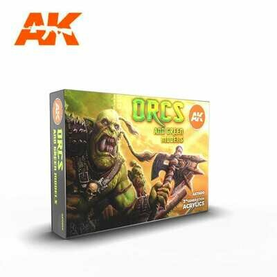 Orcs and Green Models-(3rd-Generation)-(6x17mL) - AK Interactive
