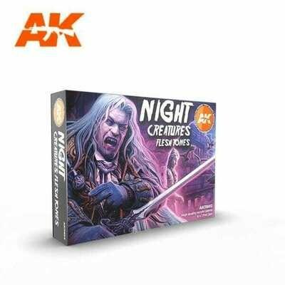 Night Creatures Flesh Tones-(3rd-Generation)-(6x17mL) - AK Interactive