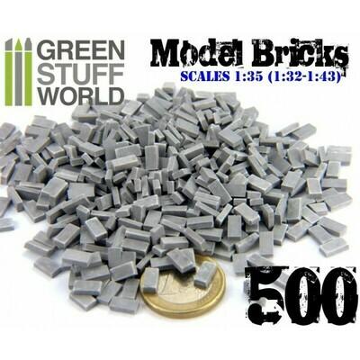 Ziegelsteine - Grau x500 - Model Bricks - Greenstuff World