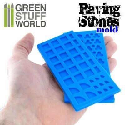 Silikon Texturplatten - Steinfliesenboden - Paving Stones molds - Greenstuff World