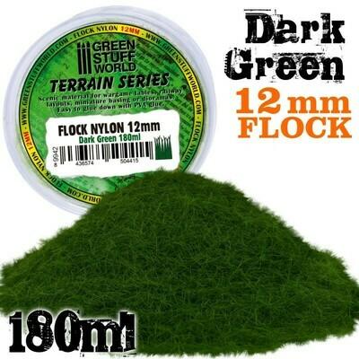 Elektrostatisches Gras 12mm Flock Nylon Dark Green - DunkelGrün - 180ml - Greenstuff World