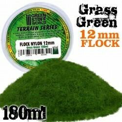 Elektrostatisches Gras 12mm - Grass Grün - Flock Nylon Grass Green - 180ml - Greenstuff World