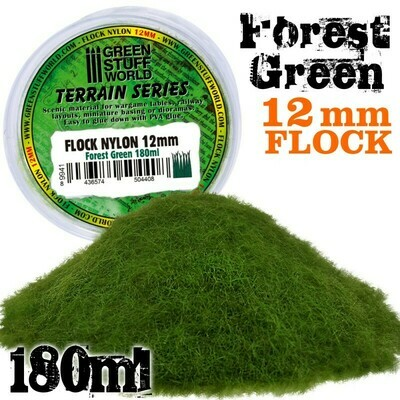 Elektrostatisches Gras 12mm - WaldGrün - Flock Nylon Forest Green - 180ml - Greenstuff World