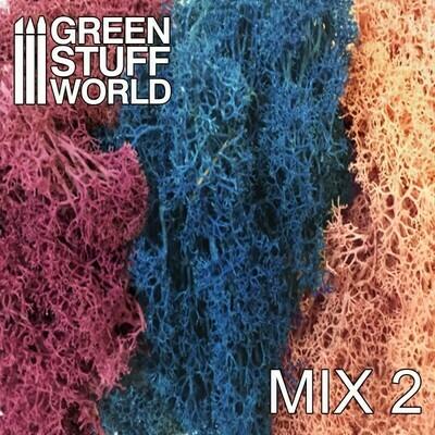 Islandmoos - Blau Violett und Hellrosa Mischung - Scenery Moss Mix 2 - Greenstuff World