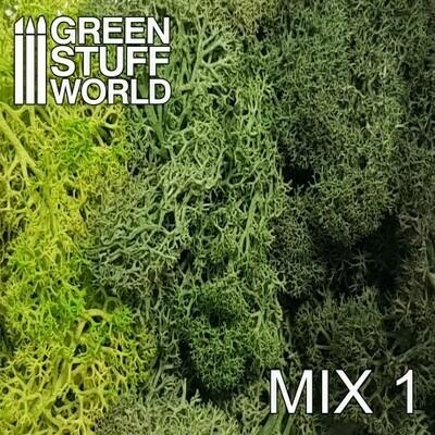 Islandmoos - Grüne Mischung - Scenery Moss Mix 1 - Greenstuff World