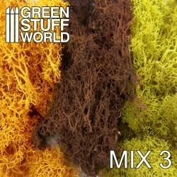 Islandmoos - Gelb und Braun Mischung  - Scenery Moss Mix 3 - Greenstuff World