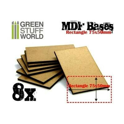 75x50m rechteckige MDF Basen - Greenstuff World