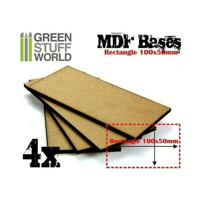 100x50mm rechteckige MDF Basen - Greenstuff World