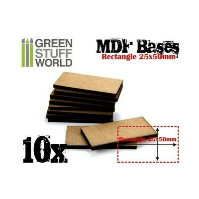 25x50mm rechteckige MDF Basen - Greenstuff World