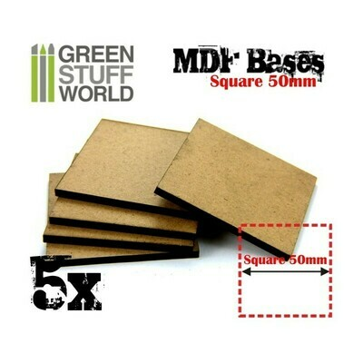 50 mm quadratische MDF Basen MDF Square - Greenstuff World