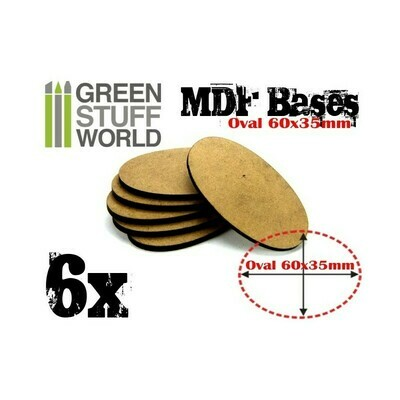 60x35mm AOS oval MDF Basen - Greenstuff World