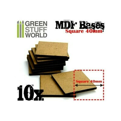 40 mm quadratische MDF Basen MDF Square - Greenstuff World