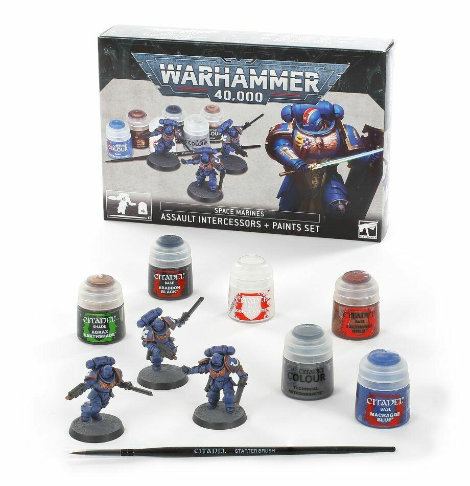 Space Marines: Assault Intercessors + Farbset Paint Set - Warhammer 40.000 - Games Workshop