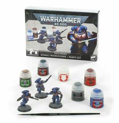 Space Marines: Assault Intercessors + Farbset Paint Set - Warhammer 40.000 - Games Workshop
