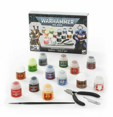 Warhammer 40.000: Farben + Werkzeugset Grundausstattung Paints + Tools Set - Games Workshop