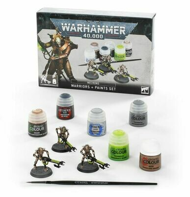 Necrons: Krieger Warriors + Farbset Paint Set - Warhammer 40.000 - Games Workshop