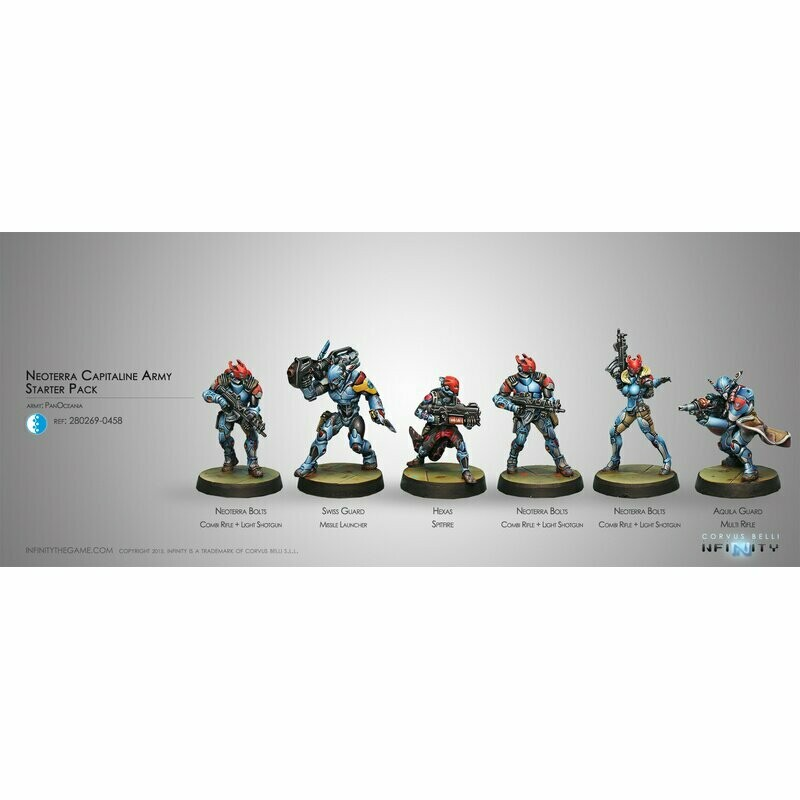 Pan Oceania Neoterran Capitaline Army Sectorial Starter Pack - Pan Oceania - Infinity