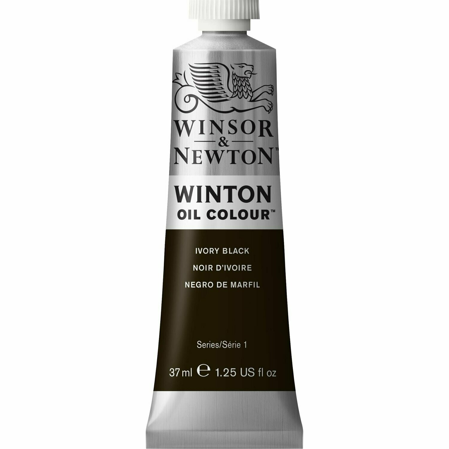 W&N-WINTON-ÖL-Ivory-Black-(37mL) - Winsor