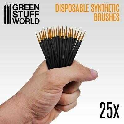 Disposable Synthetic Brushes 25x Synthetische Einwegbürsten - Greenstuff World