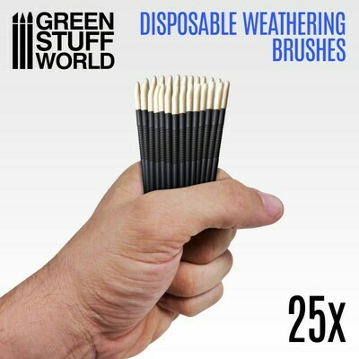 Disposable Weathering Brushes 25x Weathering Einwegbürsten - Greenstuff World