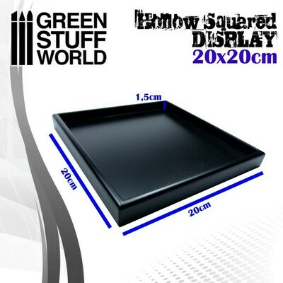 Leerer quadratischer Sockel 20x20 cm Display Plinth - Schwarz - Greenstuff World