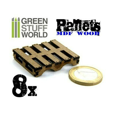 8x laservorgeschnittene MDF Paletten Palett - Greenstuff World