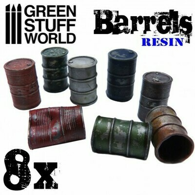 8x Fässer - Resin - Greenstuff World