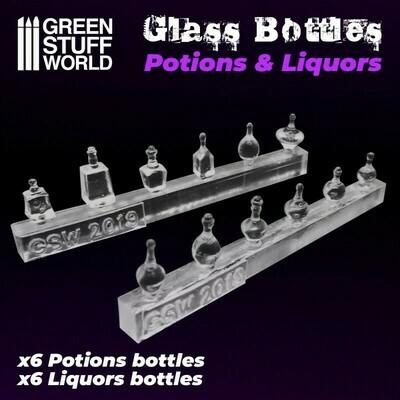 Resin Glas Bottles Trank- und Schnapsflaschen aus Harz - Klein - Greenstuff World