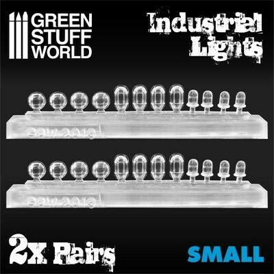 Industrial Lights 24x Industrielle Leuchten aus Harz - Klein - Greenstuff World
