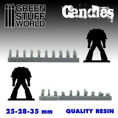 70x Kerzen aus Harz Resin Candles - Greenstuff World