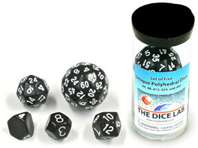 Set of five unique dice  (5) - Weiss - The Dice Lab