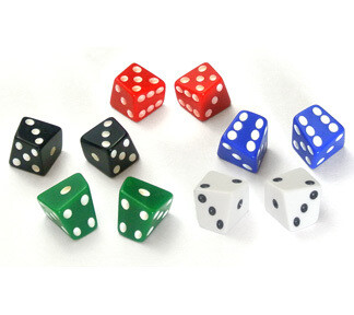 Skew d6 (1) - Weiss - The Dice Lab