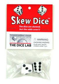 W6 - Pair of Skew d6 Dice - Weiss - The Dice Lab