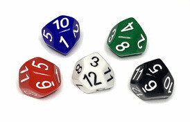 Skew d12 (1) - Weiss - The Dice Lab