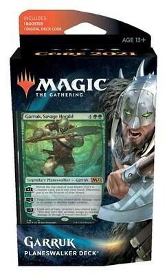 Magic the Gathering: Core Set 2021 Planeswalker Deck 5 - Garruk (DE)