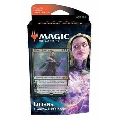 Magic the Gathering: Core Set 2021 Planeswalker Deck 3 - Liliana (DE)
