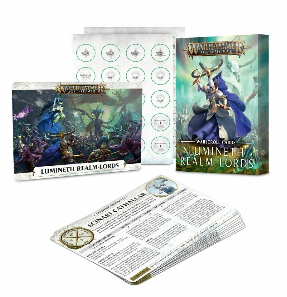 Schriftrollen-Karten: Lumineth Realm-lords Warscroll - Lumineth  - Warhammer Age of Sigmar - Games Workshop