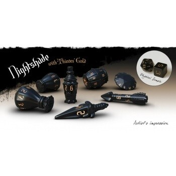 PolyHero Rogue 7-Dice Set - Nightshade