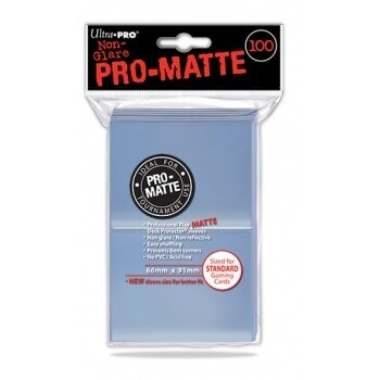 UP - Standard Deck Protector - PRO-Matte Clear (100 Sleeves)