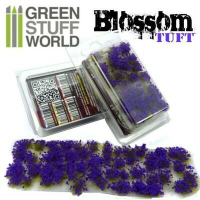 Blumenbüschel Blossom - Selbstklebend - 6mm - VIOLETTE Blumen - Greenstuff World