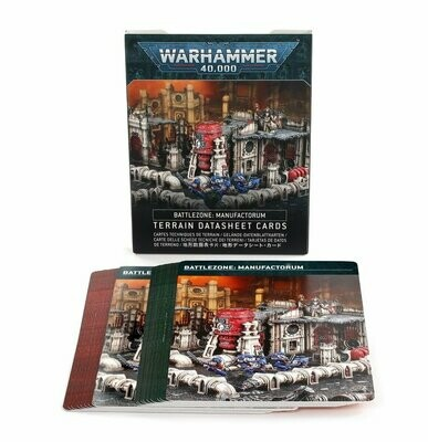 WH40K: Battlezone: Manufactorum – Terrain Datasheet Cards (Englisch) - Games Workshop