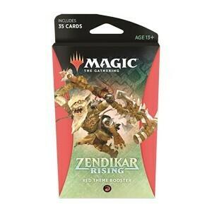 Magic The Gathering - Zendikar Rising Themen Booster - Rot - DE