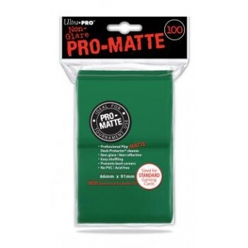 UP - Standard Deck Protector - PRO-Matte Green (100 Sleeves)