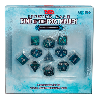 D&D Dungeons and Dragons - Icewind Dale: Rime of the Frostmaiden Dice Set Würfel