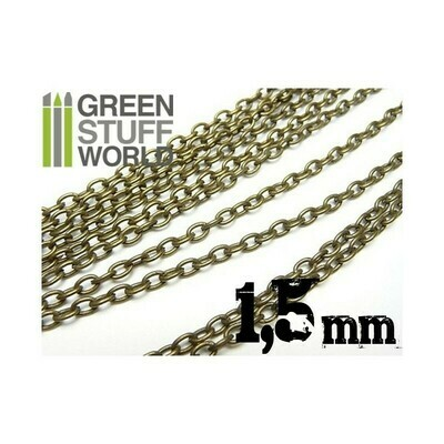 Hobby Kette 1.5 mm Chain - Voll 1 Meter  - Greenstuff World