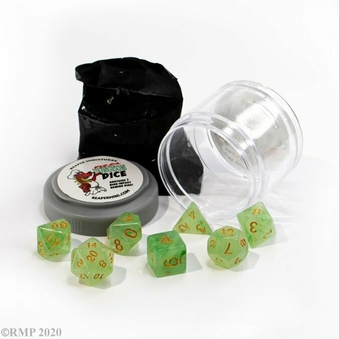 Lucky Dice - Gem Green - Reaper Miniatures